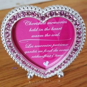 Mary Kay pink crystal heart picture frame